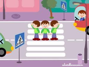 дети переходят дорогу картинка