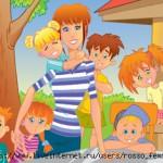 картинка воспитатель с детьми